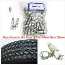 100 Pcs Metal Car Off-Road 9mm Screw Wheel Tyre Snow Anti-Slip Spikes Studs Kits