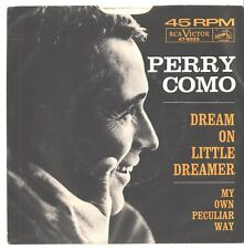 PERRY COMO--PICTURE SLEEVE ONLY--(DREAM ON LITTLE DREAMER)---PS---PIC---SLV