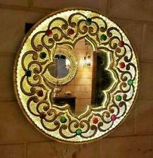 Accent Mirror, Handmade Wall Mirror, Moroccan design, Boho Decor Entrance Mirror