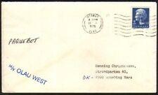 DENMARK GB 1975 ship cover pmk Medway. Mss Paquebot, MV Olau west..........46683