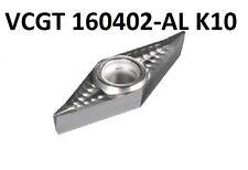 10x VCGT 160402-AL K10   für AlU Kunstoff & Buntmetalle Geschliffen und Poliert