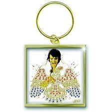 Elvis Presley American Eagle logo métallique carrée officielle cadeau trousseau