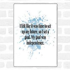 Blu Bianco obiettivo era l'indipendenza Ispiratore Citazione Jumbo Frigo Calamita
