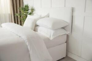 Headboard Wrap Faux Suede in White King Bed Size 152cm x 60cm