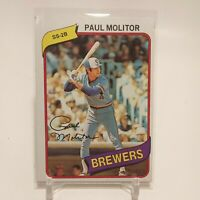 1980 Topps Paul Molitor #406 Milwaukee Brewers HOF