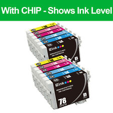 12PK 78 T078 Ink Cartridges For Epson Artisan 50 Stylus Photo R380 RX595 RX680