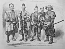 1864 I Japan Ambassadeurs Dolmetscher Tracht Schwert