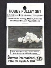 Stevens Motors 202  Assorted Medium Plastic Pulley Set (1.9mm ID) (10pcs)