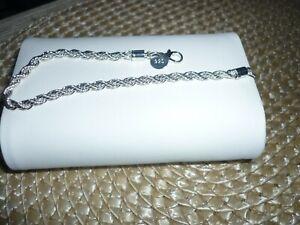 925 Silberauflage ,Armband,Neu,,19cm lang, 2,5mm breit,