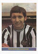 David Craig Newcastle United 1963-1978 Original Firmada A Mano Revista Foto