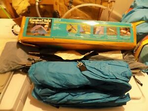 Vtg Eureka The StormShield Prism Tent 2 Person Double Coated Fabric & Wall Boxed