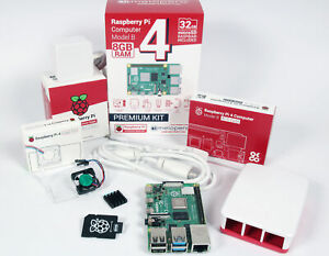 Raspberry Pi 4 Computer 8GB RAM Official Full Kit with Official FAN System - Whi