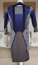 Topshop bold print multi coloured short mini Dress Size 4 bodycon sleek 384