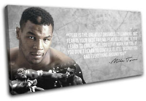 Boxing Quote Iron Mike Tyson Sports SINGLE CANVAS WALL ART Picture Print