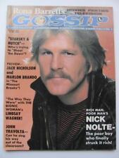 Aug 1976 Rona Barrett's Gossip Magazine Nick Nolte John Travolta Sings Gator+