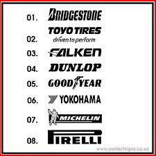 1 X Tyre Brand Logo for Cars / Funny Car/Van/Sport VW VAG  Vinyl Decal Sticker
