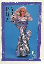 "Barbie Collectible Fashion Card  "" Pink Jubilee 30th Anniversary Barbie ""  1989"