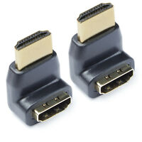 Gold HDMI 270 Degree Male to Female Extend Adapter / Converter,2Packs