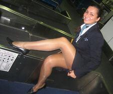 *SALE* 3 x pack Air Hostess Cabin Crew 15 den Gloss Light-Support Tights (SHEER)