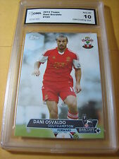 DANI OSVALDO SOUTH HAMPTON 2013 TOPPS BARCLAYS PREMIER ARSENAL FOWARD GRADED 10