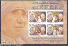 ST.VIN GRENADINES MOTHER TERESA 100th BIRTH ANN IMPRF SHEET II POPE JOHN PAUL II