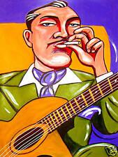 DJANGO REINHARDT PRINT poster gypsy jazz guitar selmer maccaferri nuages cd