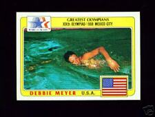 RARE 1983 OLYMPIC DEBBIE MEYER SWIMMING CARD #82