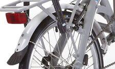"""KANSI MUDGUARDS + vettore per 20"""" RUOTA 9 Velocità Bicicletta Pieghevole Bianco Grigio per abbinare"""