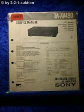 Sony Service Manual TA AV490 Amplifier (#3667)