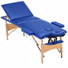 "85"" ELITE PORTABLE FOLDING MASSAGE TABLE-SALON SPA BED - LUXOR BLUE"