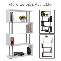 Wooden Wood S Shape Storage Display Unit Bookcase Bookshelf Room Divider 3 Color