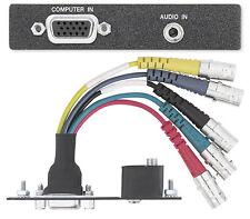EXTRON AAP VGA 15HD Female to 5 BNC, 3.5 Stereo Mini Jack Face Plate #70-551-71