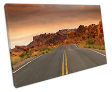 ROUTE 66 OPEN ROAD CANVAS WALL ART PICTURE LARGE 75 X 50 CM READY TO HANG