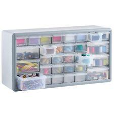 White 30 Multi Drawer Organiser Cabinet Unit Nail Bolt Screw Craft Bit Storage