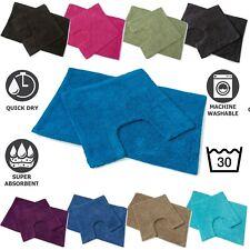 Bath Mat Set Bath and Toilet Pedestal Mat Set Large Cotton Non Slip 2 PC Piece