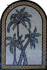 "30"" Handmade Colorful Floral Vase Kitchen Backsplash Home Marble Mosaic Art Ston"