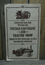 Original Vintage Hit And Miss Engine & Tractor Show Poster Ca State Fair Old Gas