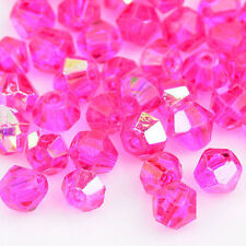 300pcs 4mm Rose red AB Swarovski crystal Bicone Beads