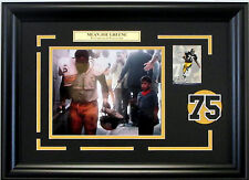 Mean Joe Greene super bowl Coke Commercial Steelers photo framed jersey #75 hof