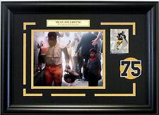 Mean Joe Greene super bowl Coke Commercial Steelers photo framed jersey #75 hof