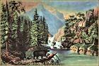 Currier & Ives: The Mountain Pass, Sierra Nevada  Art Print