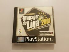 Manager de Liga 2001 PlayStation 1 (PS1) pal España COMPLETO de COLECCION