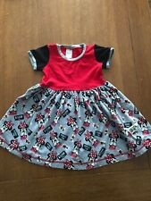 EUC! Infant Girls size 12 Minnie Mouse Dress by K Pea - Short Sleeved