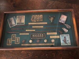 GOLF GOLFER Balls Tees Miniatures  Bobby Jones Shadow Box Vintage Wooden Gift