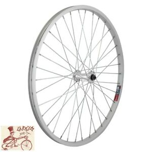 """WHEEL MASTER  QUICK RELEASE 24"""" x 1.75""""  ALLOY SILVER  BICYCLE FRONT WHEEL"""