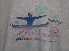 1999 World Pro Figure Skating Championship Long Sleeve Gray Tee Shirt Size L