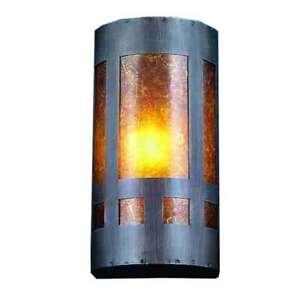 Meyda Lighting 5'W Van Erp Amber Mica Wall Sconce, Amber - 23956