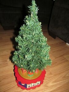 "Vintage AVON ""Christmas is Coming"" Rotating Musical ADVENT CALENDAR TREE"