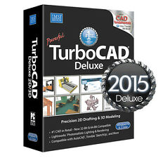 TurboCAD Deluxe 2015 2D CAD Design Software & 3D Modeling New