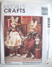 """34"""" Dressed rabbits bunnies him her Hop to It!  pattern 8035 Unused"""